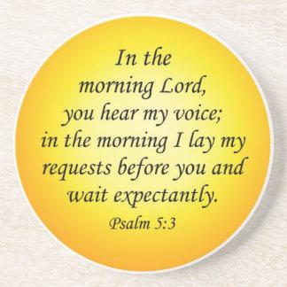 Salmo 5 3 del práctico de costa del verso de la bi posavasos manualidades