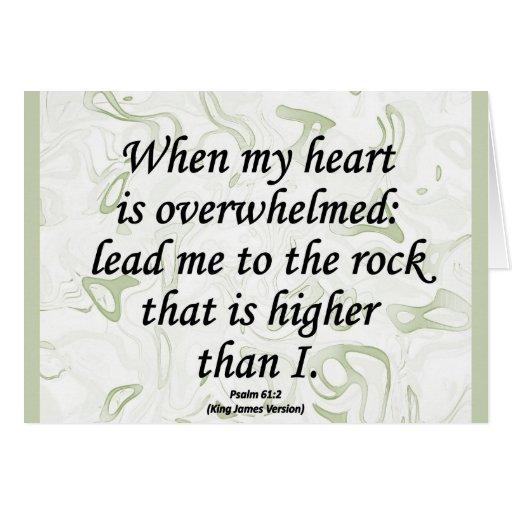 Salmo 61-2 de la fuerza tarjeta de felicitación