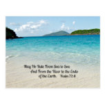 Salmo 72: 8 de mayo que él gobierna del mar al mar tarjeta postal