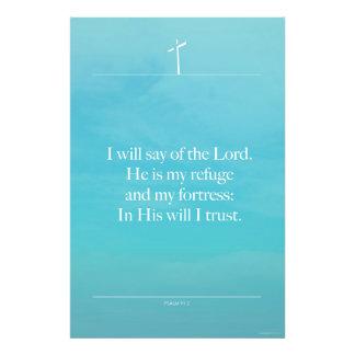 Salmo 91,2 - Citas de la inspiración de la biblia Cojinete