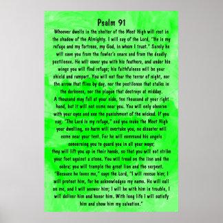 salmo 91 del verso de la biblia poster