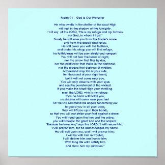 Salmo 91 - Dios es nuestro protector Póster