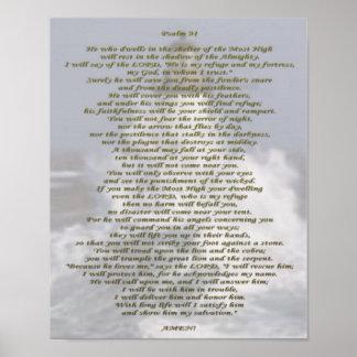 Salmo 91 NIV Póster