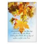 Salmo 91 todo el texto, hojas de arce anaranjadas tarjeta