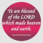 Salmo bendecido 115-15 condensado pegatinas