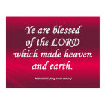 Salmo bendecido 115-15 condensado tarjeta postal