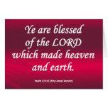 Salmo bendecido 115-15 condensado tarjetas