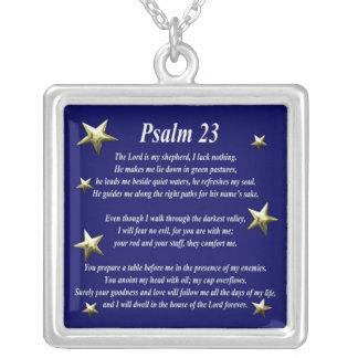 Salmo bien escogido 23 de la estrella colgante cuadrado
