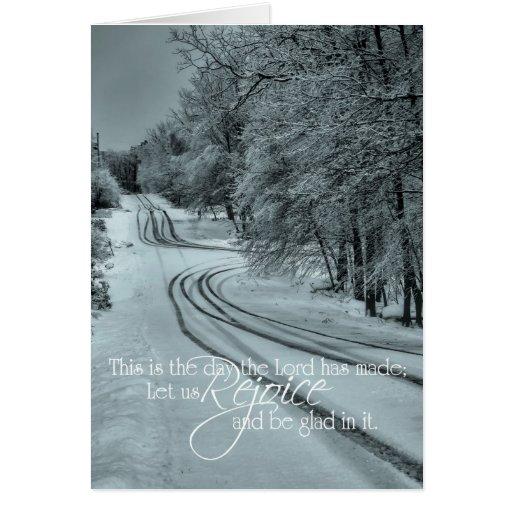 Salmo camino de 118 inviernos tarjeta de felicitación