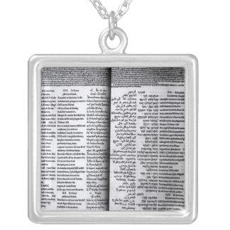 Salmo de David: Psalterim Octaplums, 1516 Colgante Cuadrado