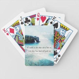 Salmo inspirador del verso de la biblia que eleva baraja cartas de poker