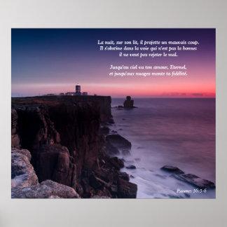 Salmo púrpura 36 de la roca del poster (lengua