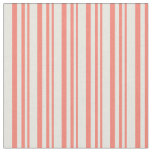 [ Thumbnail: Salmon and Beige Colored Pattern of Stripes Fabric ]