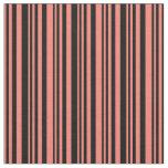 [ Thumbnail: Salmon and Black Pattern Fabric ]