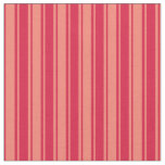 [ Thumbnail: Salmon and Crimson Colored Striped Pattern Fabric ]