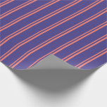 [ Thumbnail: Salmon and Dark Slate Blue Colored Pattern Wrapping Paper ]