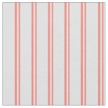 [ Thumbnail: Salmon and Lavender Colored Stripes/Lines Pattern Fabric ]