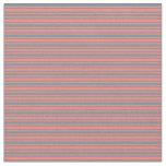 [ Thumbnail: Salmon and Light Slate Gray Stripes Fabric ]