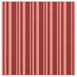 [ Thumbnail: Salmon and Maroon Colored Striped/Lined Pattern Fabric ]