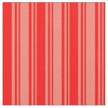 [ Thumbnail: Salmon and Red Stripes Pattern Fabric ]