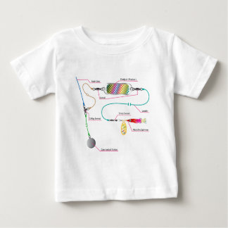 Salmon and saltwater trolling rig with a flasher baby T-Shirt