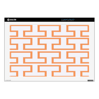 """Salmon and White Bricks Decal For 17"""" Laptop"""