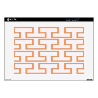 Salmon and White Bricks Skins For Laptops