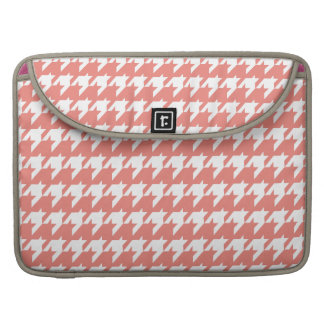 Salmon and white houndstooth sleeve for MacBooks