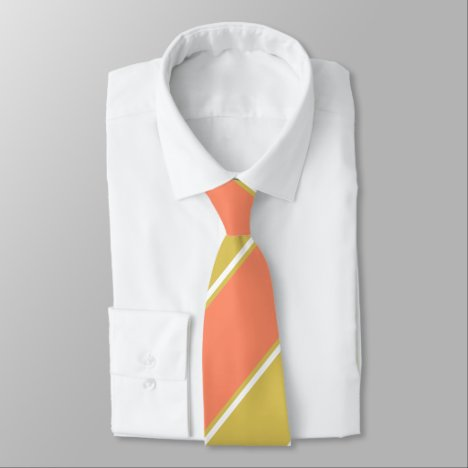 Salmon and White Wine-Colored II Tie