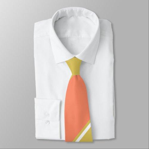 Salmon and White Wine-Colored Tie