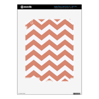 Salmon and White Zigzags iPad 3 Decals