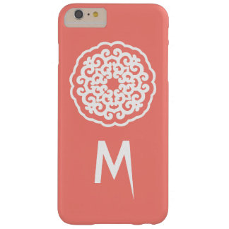 Salmon Asian Moods Mandalla with initial Barely There iPhone 6 Plus Case