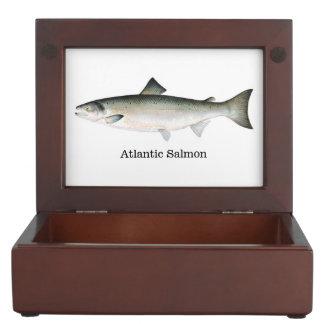 Salmón atlántico cajas de recuerdos