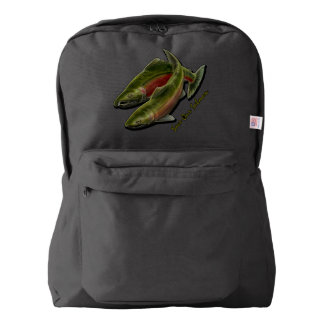 Salmon Backpack Gone Fishing School Bags Customize
