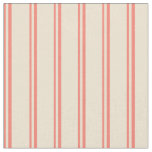[ Thumbnail: Salmon & Beige Colored Pattern of Stripes Fabric ]