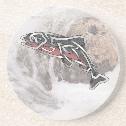 Salmon Beverage Coaster