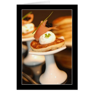 Salmon Blinis Card