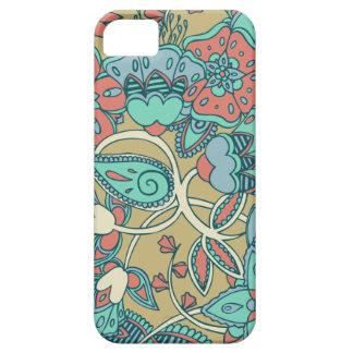 Salmon & Blue Floral iPhone SE/5/5s Case