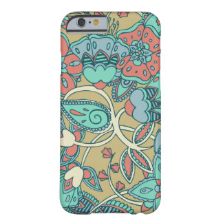 Salmon Blue Floral iPhone 6 Case