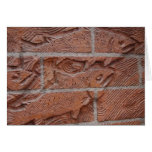salmon brick greeting card