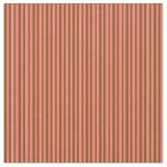 [ Thumbnail: Salmon & Brown Colored Lines/Stripes Pattern Fabric ]