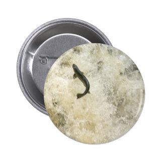 Salmon Button Badge