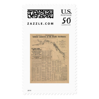 Salmon Canneries of the Pacific Northwest 1901 Postage