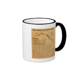 Salmon Canneries of the Pacific Northwest Map Coffee Mug