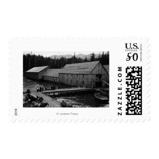 Salmon Cannery near Ketchikan, Alaska Postage