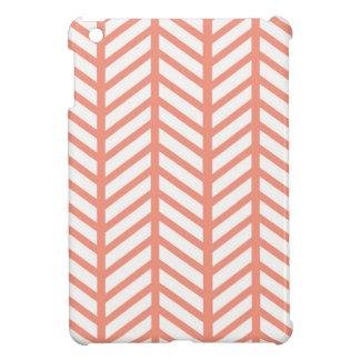 Salmon Chevron Folders iPad Mini Cover