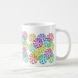 Salmon Circle Rainbow Classic White Coffee Mug