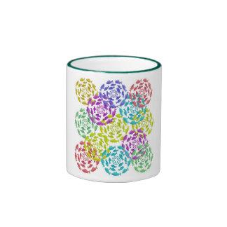 Salmon Circle Rainbow Ringer Coffee Mug