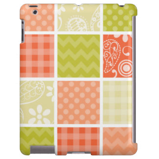 Salmon Coral Orange and Green Girly Patterns