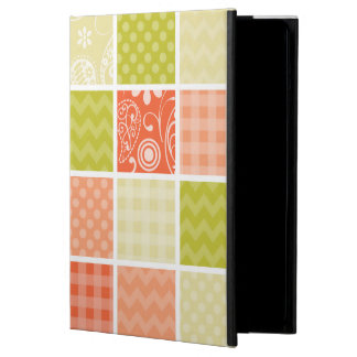 Salmon Coral Orange and Green Girly Patterns iPad Air Cover
